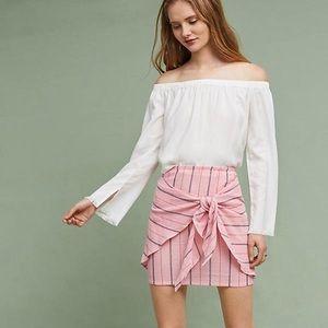 Anthropologie Mini Tie-Front Skirt